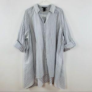 LANE BRYANT Sz 26-28 Long Sleeve Button Down Shirt